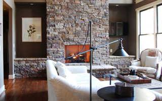Камин в интерьере зала и гостиной в современном стиле